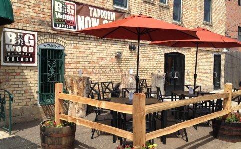 Patio at Big Wood Brewery