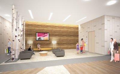 Rosedale Center Renovation Rendering Elevator Lobby