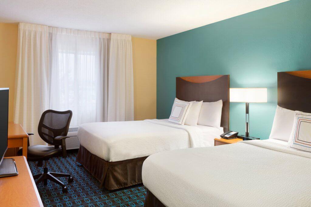 Fairfield Inn & Suites Roseville, MN double queen room