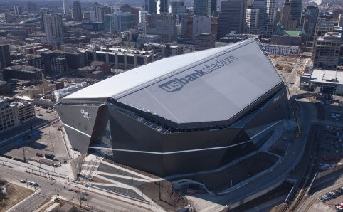 US Bank Stadium Aerial View Minneapolis, MN