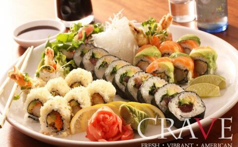 CRAVE American Restaurant and Sushi Bar Rosedale Center Roseville MN