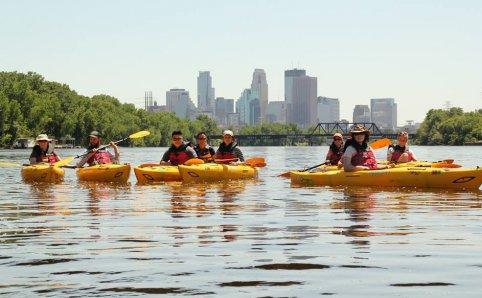 Kayak on the Mississippi